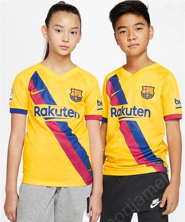 لباس دوم بارسلونا بچگانه